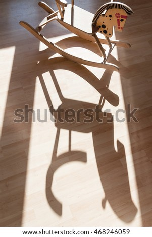 Wooden Horse with Shadow
