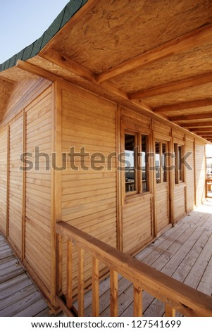 Wooden house - stock photo
