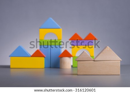 Wooden house (Housing Loan Concept) - stock photo