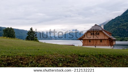 Wooden house in Ossiach, Austria
