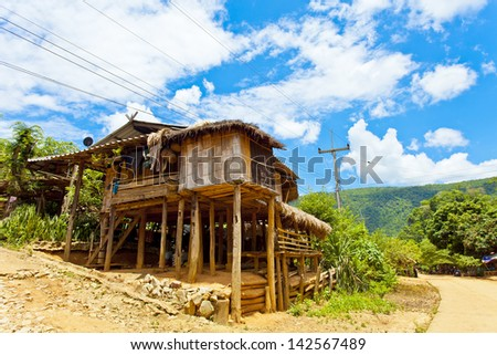 Wooden house in Thailand - stock photo