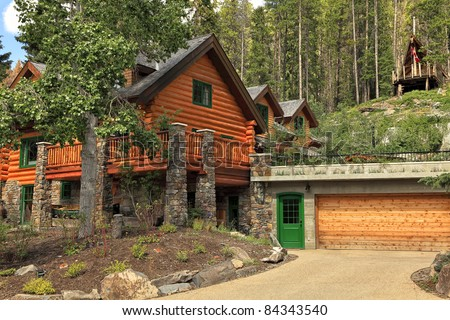 Wooden house in wood