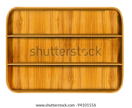 Wooden house shelf - stock photo