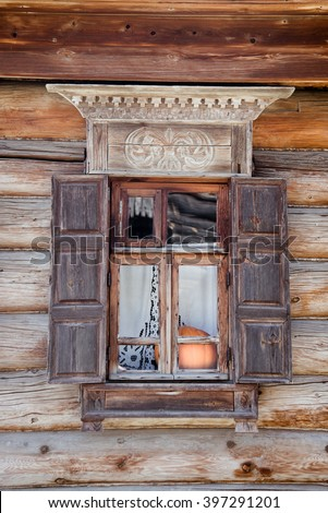 Wooden house. Suzdal - The Golden Ring of Russia - stock photo