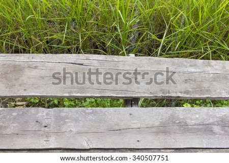 Wooden hut on a rice field - old shack - stock photo