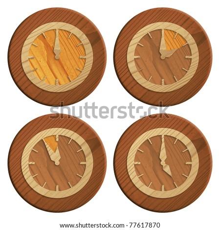 Wooden Icon - stock photo