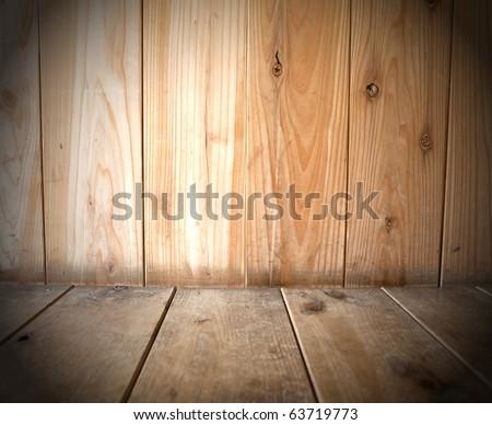 Wooden interior background - stock photo
