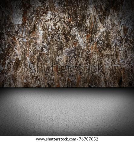 wooden interior. grunge industrial interior Uneven diffuse lighting version. Design component - stock photo