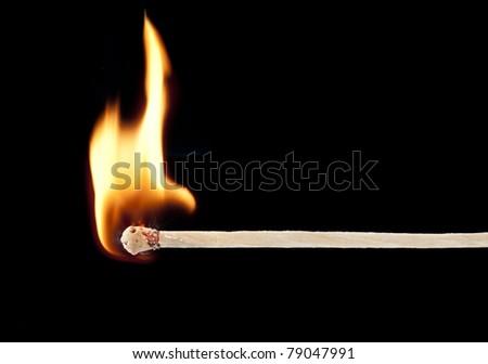 wooden kitchen match  ignition - stock photo
