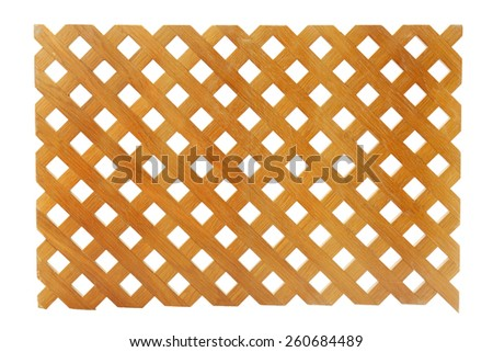 Wooden lattice on white background - stock photo