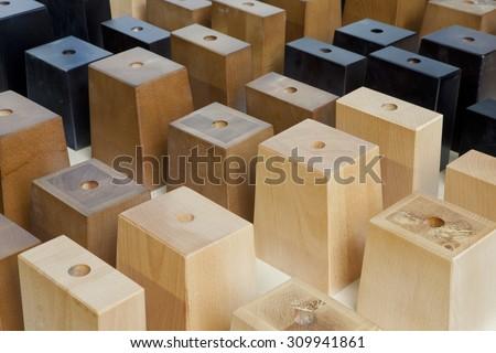wooden legs - stock photo