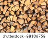 Wooden logs abstract background - stock photo
