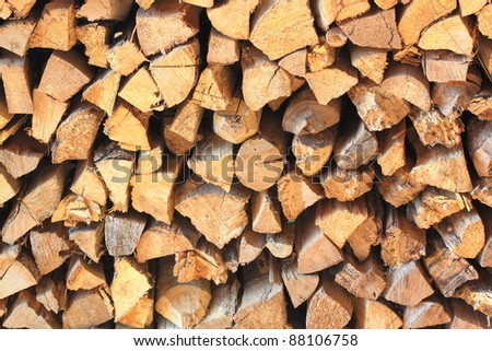 Wooden logs abstract background