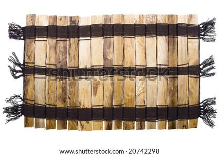 Wooden Mat - stock photo