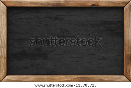 wooden menu board. - stock photo