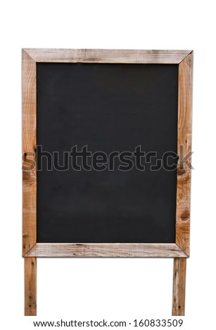 Wooden menu board with path