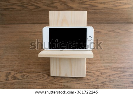 wooden mobile phone stand Crafts wood mobile stand
