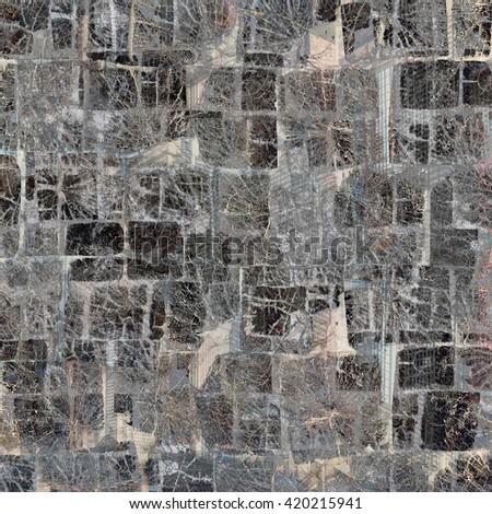 Wooden mosaic background - stock photo