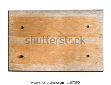 Wooden notice board - stock photo