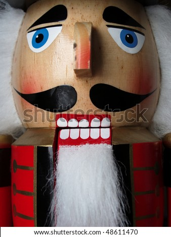 Wooden Nutcracker for Christmas - stock photo