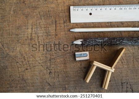 Wooden Objects Ecology Concept - stock photo