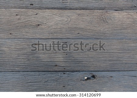 Wooden old grey dark floor plank