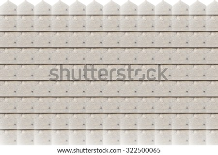 wooden on white background