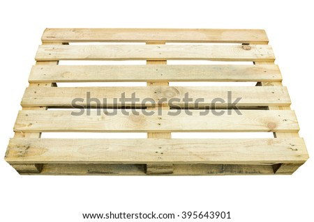 Wooden pallet for storage and transportation of goods - stock photo