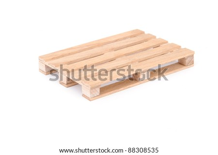 Wooden Pallet for Warehouse - stock photo