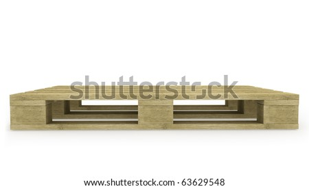 Wooden pallet side view - stock photo