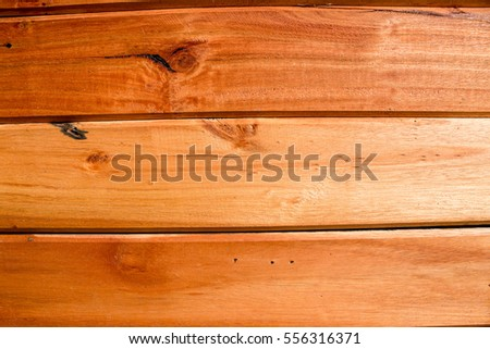 Wooden panel closely pictured in detail for texture background usage.