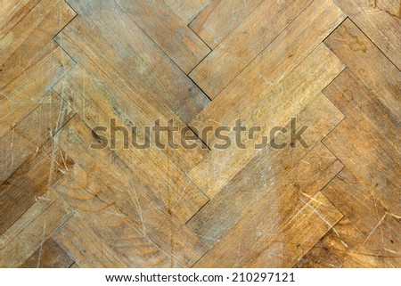 Wooden parquet brown floor background - stock photo