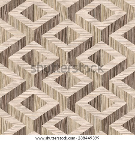 wooden parquet Decoration - seamless background - Blasted Oak Groove wood texture - stock photo