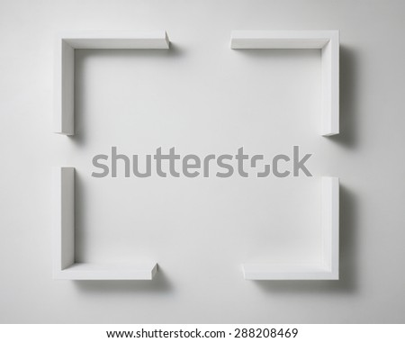 wooden parts abstract. - stock photo