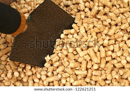 wooden pellets - stock photo