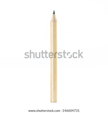 Wooden Pencil isolated on white background - stock photo