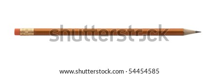 wooden pencil,isolated on white with clipping path. - stock photo