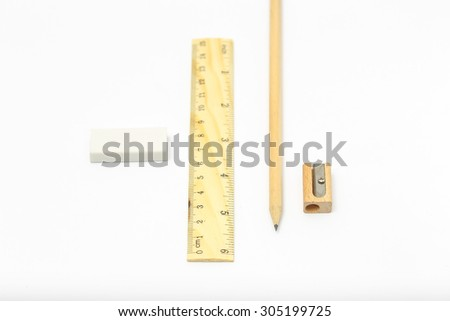 Wooden pencil Ruler