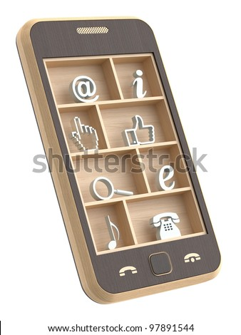 Wooden phone concept