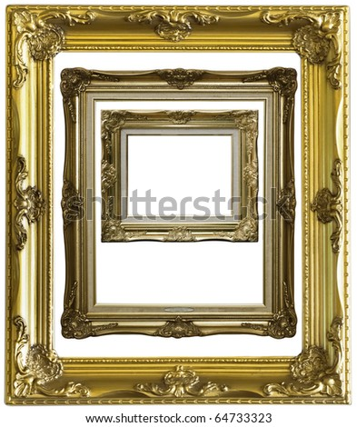 wooden photo frame - stock photo