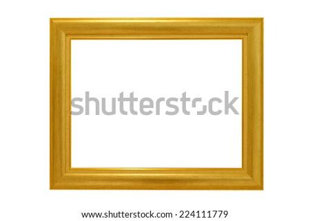 wooden photo frame isolated on white background  - stock photo