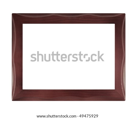 Wooden photo frame isolated on white background