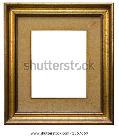 Wooden picture frame isolated - stock photo