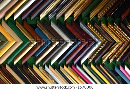 wooden picture frames - stock photo