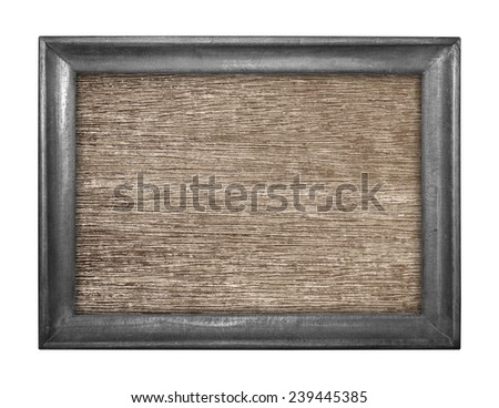 Wooden picture isolated on white