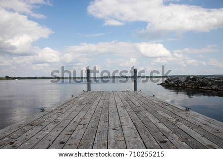 Wooden pier at the lake