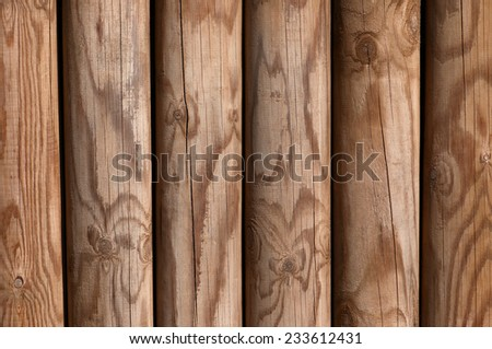 Wooden pine panel fence background texture bright - stock photo