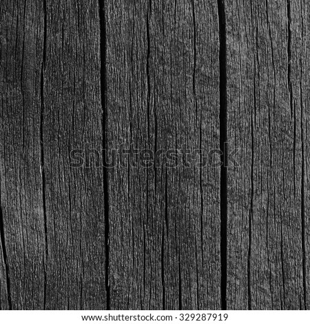 Wooden Plank Board Grey Black Wood Tar Paint Vertical Texture Old Aged Dark Cracked Timber Macro Closeup Pattern Blank Empty Rough Textured Copy Space Grunge Weathered Vintage Painted Background - stock photo