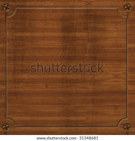 Wooden plank illustration with open space for your design - stock photo