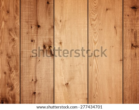Wooden plank panels wall background - stock photo